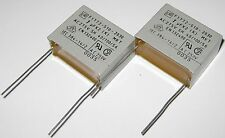 2 X ERO 1uF Capacitor - 250 VAC - Radial Metalized Polyester Capacitors - 1 uF
