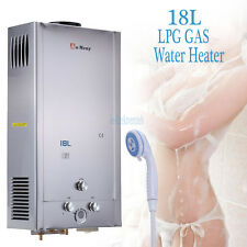 18L GAS PROPANO GPL 4 GAL TANKLESS INSTANT Hot Water Heater materiale Inossidabile