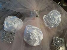800 Silver Bling Wedding Napkin Rings Holder 7 Row