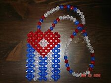 *HANDMADE* CUBA CUBAN FLAG for your car's rearview mirror, necklace, or ?