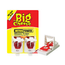 Mouse & Rodent Trap Reusable Plastic Ultra Power Device Big Cheese Twinpack