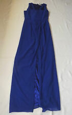 BNWT UK 8 EUR 36 US 4 VLABEL LONDON BLUE EVENING MAXI PARTY DRESS FRONT VENT