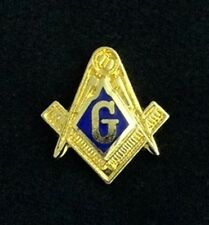 Masonic Square & Compasses Freemason Lapel Pin (MAS-100) EES