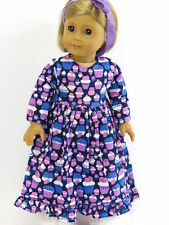 Cupcake Nightgown Pajamas PJs Doll Clothes Made for 18 Inch American Girl