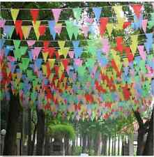 10M Rainbow Happy Birthday Party Banner/Bunting Flags Dessert Table Decor New