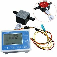 "3/8"" Flow Control Oil Fuel Gasoline Diesel Milk Water Gear Sensor LCD Display"