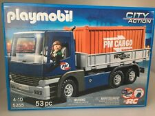Playmobil 5255 City Action Cargo Truck With Container New In Box