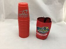 Speed Stacks Stacker Cups Game Official Cup Of The WSSA 12 Pcs Red Carrying Case
