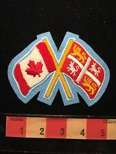 Pair Of Canada Flags ~ Country & ? Flag Patch Canadian 65Z0