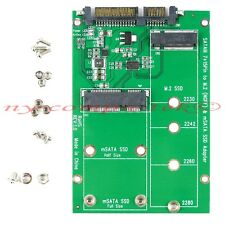 2 in 1 PCI-E 2 Lane M.2 (NGFF) & mSATA SSD to SATA III SATA3 Adapter Converter