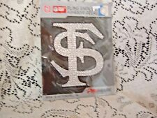 FLORIDA STATE UNIVERSITY FS MONOGRAM  6 INCH BLING EMBLEM ADHESIVE  DECAL NEW