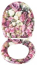 Pretty Soft Close Roses Flower Toilet Seat, Bathroom, Detailed And Stylish