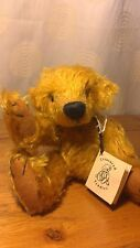 "A Handmade Gold Mohair Teddy Bear 9.5"" Artist OOAK Clegg Of Treasured Teddies 2"