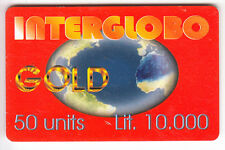 EUROPE  TELECARTE / PHONECARD .. ITALIE 10.000L INTERGLOBO GOLD 08/2001