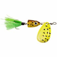 BLUE FOX VIBRAX SHALLOW SPINNER    BLACK CHARTREUSE