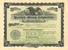 Hartford Mining Corporation   1904 Arizona Preferred old stock certificate share