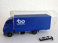 """Mercedes LKW blau """"100 Jahre Automobil Daimler Benz 1886-1986"""" L 12 cm"""