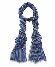 Paul Smith Blue Tonal Signature Stripe Scarf/New & Genuine/Made in Italy