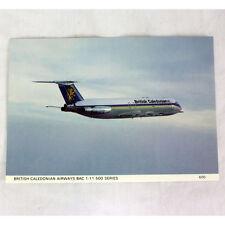 Britisch Caledonian Airways - BAC 1-11-500 - Flugzeug Postkarte