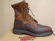"""G2879 New Men's Red Wing 1102 8"""" Lace up Brown 9.5D"""