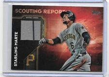 STARLING MARTE 2016 TOPPS SCOUNTING REPORT  GAME USED PINSTRIPE JERSEY