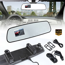 "2.4"" 1080P HD Car Mirror DVR Dash Camera Rearview Vehicle Driving Video Recorder"