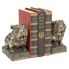 Art Deco Bulldog Faux Bronze Finish Book Ends Set of Two