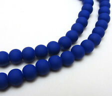 New 30pcs  6mm Loose Charm Rubber Glass beads Solid Color XP15