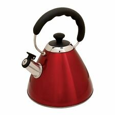 Mr Coffee Hartleton Whislting Tea Kettle, 2-Quart, Red