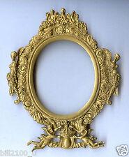 joli cadre ancien en bronze doré à décor d'anges