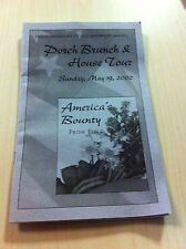 COLLINGSWOOD New Jersey PORCH BRUNCH & HOUSE TOURS 2002 History Food Brochure