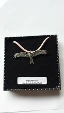 B45 Red Kite Motif Pewter  PENDENT ON A PINK CORD Necklace Handmade