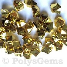 120 Oro Metálico Acrílico Hielo trozos Florero Rellenos cuadro Scatters Decoraciones