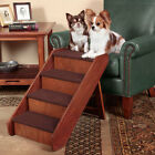 """Pet Stairs Dog Steps Large Wood 20"""" Tall Bed Ramp Step Folding Ladder Portable"""