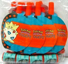 (8) VINTAGE POKEMON BLOWOUTS ~ Rare Birthday Party Supplies Favors Togepi Paper