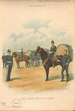 1897 Richard Simkin militar de impresión, 110 Ordnance tienda, ejército pagar & Army Veterina