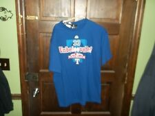 TEXAS RANGERS CLIFF LEE 33 UNBELEEVABLE BLUE SHIRT MAJESTIC LARGE NWT BASEBALL