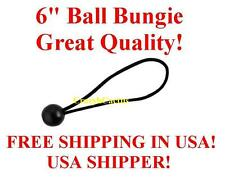 "100  6"" BLACK Ball Bungie Bungees Bungee Canopy Tie Down Tarp FREE USA SHIP!"