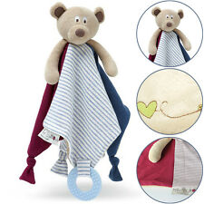 Baby Kids Rattle Comfort Teething Blanket Teddy Snuggle Bear Security Soft Toys