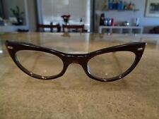 Vintage Swank Made in France Art Deco Mid Century Cat Eye Eyeglasses Ornate VTG