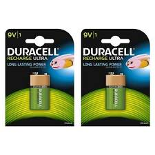 2x NEW Duracell NiMH Rechargeable Battery 9V 6LR61 PP3 HR22 Capacity 170mAh