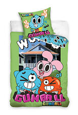 NEW THE AMAZING WORLD of GUMBALL Single Bed Duvet Cover Set 100% COTTON
