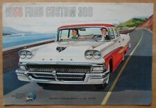 FORD custom 300 ORIG 1958 USA MKT grand format brochure catalogue de vente de prestige