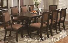 """9 Piece Formal """"Bordeaux"""" Dining Room Set Table w/18"""" Leaf, and 8 Chairs NEW!"""