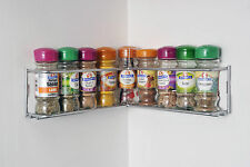 Corner wall mount chrome spice rack from the Avonstar Classic Range
