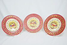 Paragon Golden Harvest set of Three Plates Signed by Artist