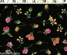 Timeless Treasures ~ Roses Flowers Rosebuds  100% Cotton Sewing Quilt Fabric BTY