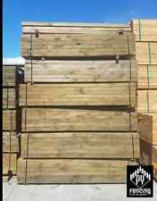 Treated Pine ECOWOOD non arsenic Sleepers 200x50 2.4m H4 K/D Retaining Walls