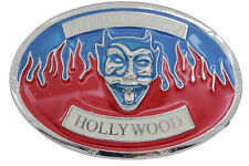 Men Women Silver Metal Belt Buckle Hollywood Fireball Ministry Rock & Roll Band