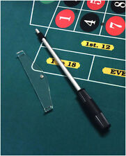 "High Quality Casino Roulette Adjustable Telescopic Rake With 8"" Acrylic Scoop *"